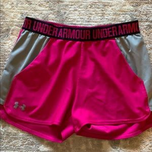 Under Armour breast cancer awareness shorts